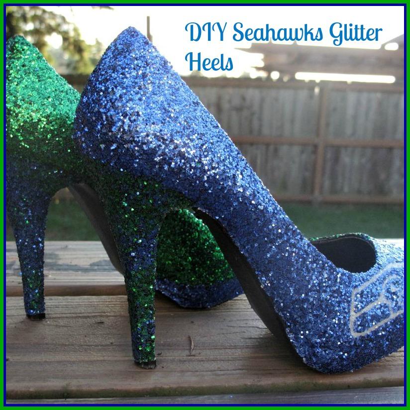 Fashion Friday ~ DIY Seahawks Glitter
